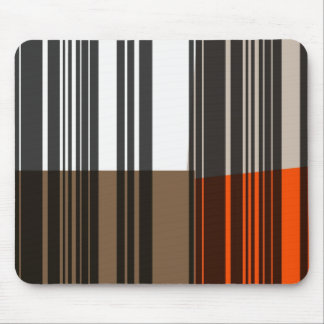 Retro Orange, Grey, Brown, Black Abstract Art Mouse Pad