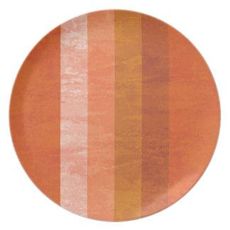 Retro Orange Striped Plate