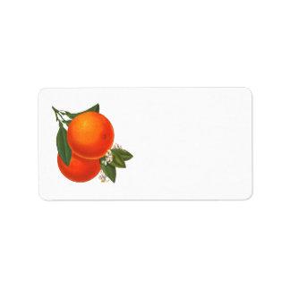Retro Oranges Label Address Label