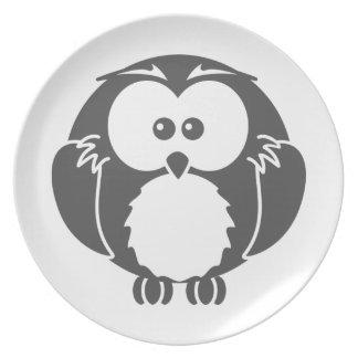 Retro Owl Plate