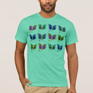 retro papillon dog T-Shirt