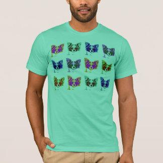 retro papillon dog T-Shirt