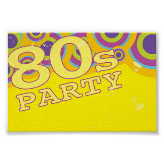 Retro Party Background Poster