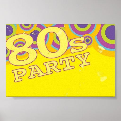 Retro Party Background Print