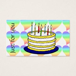 Retro Pastel Rainbow Hearts Love Business Card