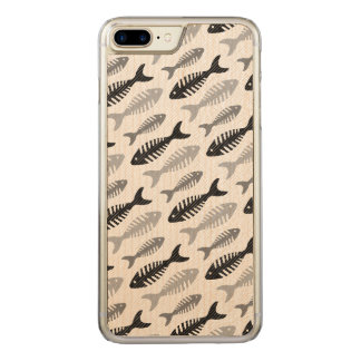 Retro Pattern 1950s Seafood Restaurant Fishbone Carved iPhone 8 Plus/7 Plus Case