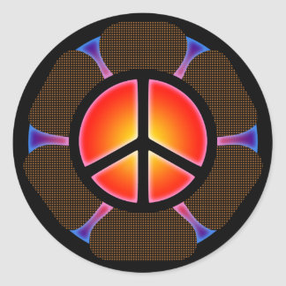 RETRO PEACE SIGN STICKERS