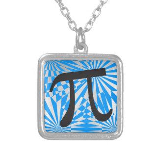 Retro Pi Square Pendant Necklace