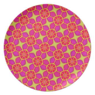Retro Pink and Gold Design Plate