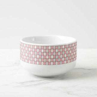 Retro Pink Starbursts Soup Mug