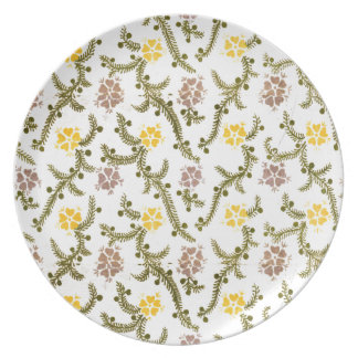 Retro Pink/Yellow and Green Flowers Print Plate