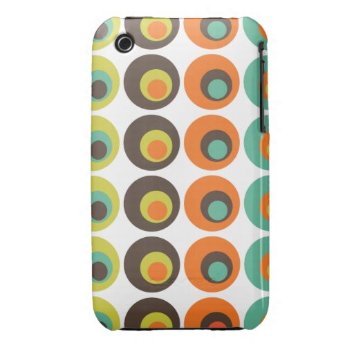 Retro polka dots iPhone 3 Case-Mate case