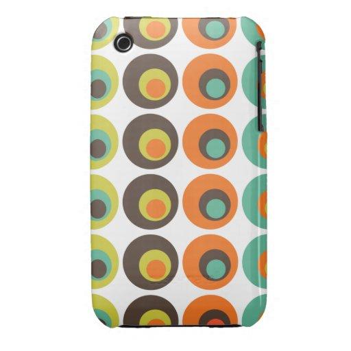 Retro polka dots iPhone 3 Case-Mate case
