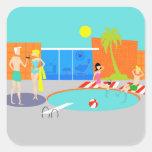 Retro Pool Party Stickers