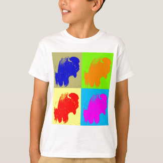 Retro Pop Art Bison Buffalo Artwork T-Shirt