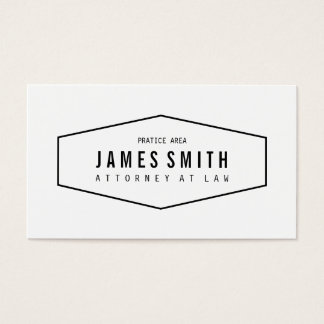 Retro Professional Attorney Business Card