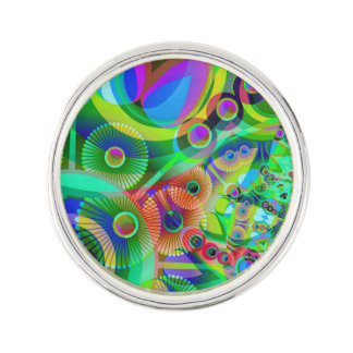 Retro Psychedelic Abstract Lapel Pin