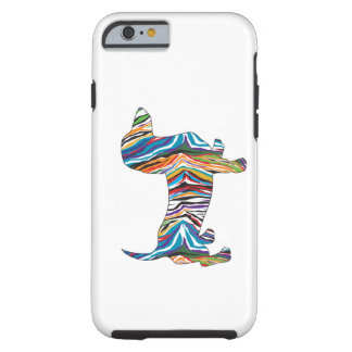 Retro Psychedelic Dachshund Tough iPhone 6 Case