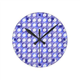 Retro Purple Blues Pop-Art Lady of Fashion Clock