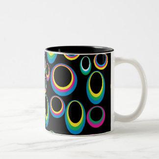 Retro Rainbow Ovals Mug