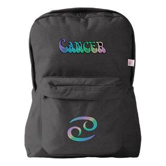 Retro Rainbow Zodiac Sign Cancer Backpack