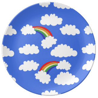 Retro Rainbows Plate