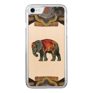 RETRO REBEL Circus Elephant Wood Carved iPhone 8/7 Case