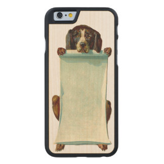 RETRO REBEL Customisable Dog iPhone 5/5S Slim Wood Carved® Maple iPhone 6 Case