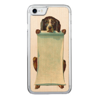 RETRO REBEL Dog iPhone 5/5S Slim Wood Carved iPhone 8/7 Case