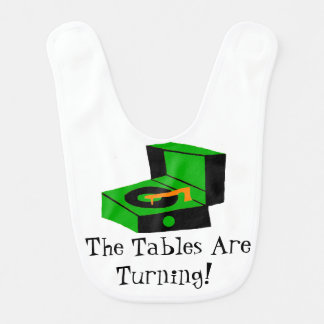 Retro Record Player Baby Bib