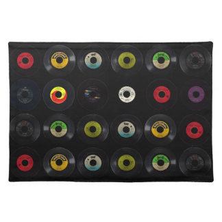 Retro Record Vinyl Albums Placemat