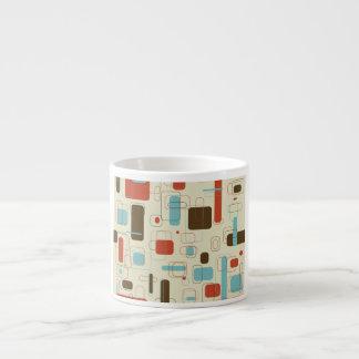 Retro Rectangles Espresso Cup