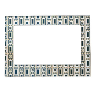 Retro Rectangles Magnetic Frame - Blue