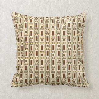 Retro Rectangles Pillow - Brown