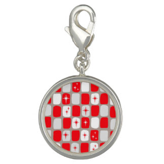 Retro Red Starbursts Charm