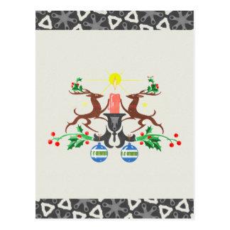Retro Reindeer Postcard