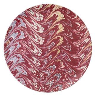 Retro Russet Waves Plate