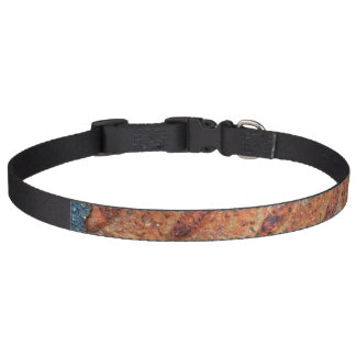 Retro Rusty Street Grunge Texture Pattern Dog Collar