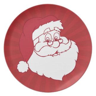 Retro Santa Claus Dinner Plate