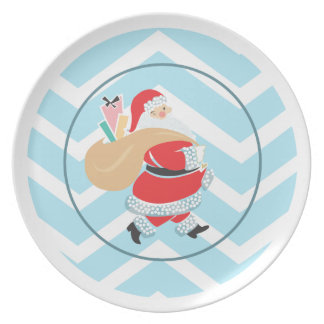 Retro Santa Plate  |  Holiday Plates