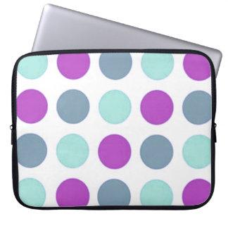 Retro Sassy Sissy Violet Teal Polkadot Girly Laptop Sleeve