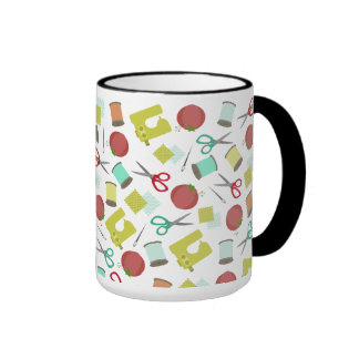 Retro Sewing Themed Mug