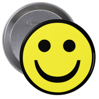 retro Smiley face 10 Cm Round Badge