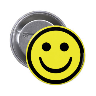 retro Smiley face 6 Cm Round Badge