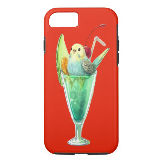 RETRO SODA FOUNTAIN ICE CREAM DESSERT BIRDS iPhone 7 CASE