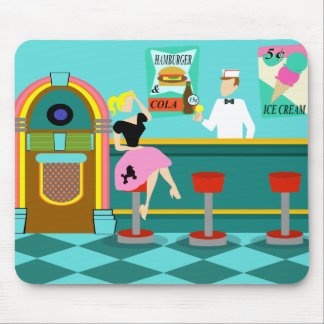 Retro Soda Fountain Mousepad