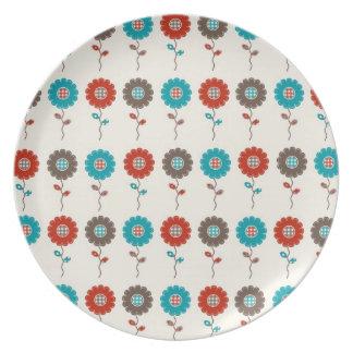 Retro Spring Flower Plate