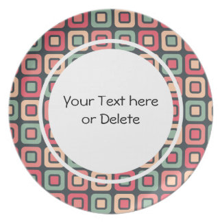 Retro Squares -Vintage Candy- Party Plate
