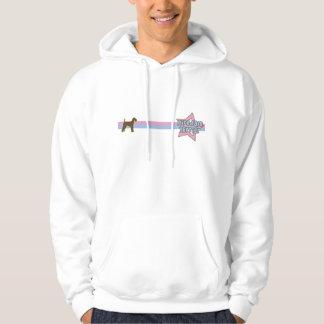 Retro Star Airedale Terrier Hooded Sweatshirt