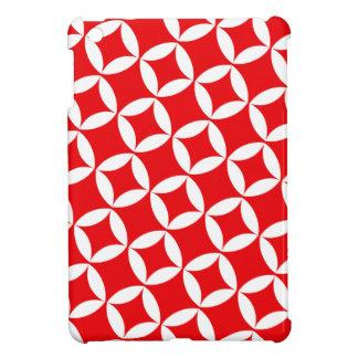 Retro Star Atomic Modern Pattern in Cherry Red iPad Mini Case